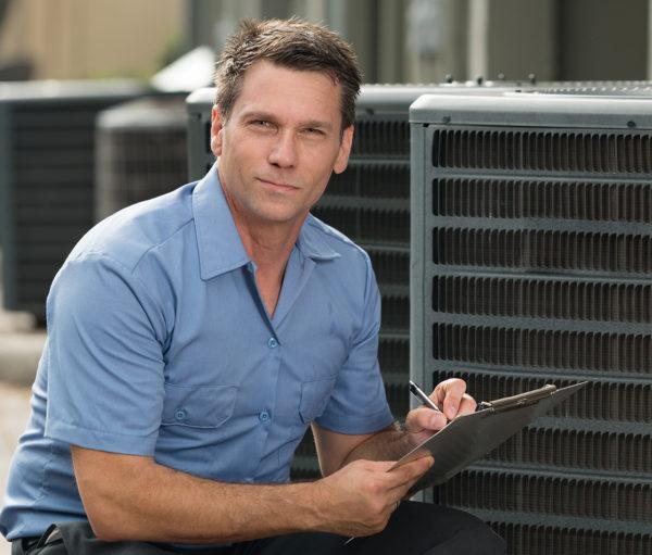 HVAC service professional